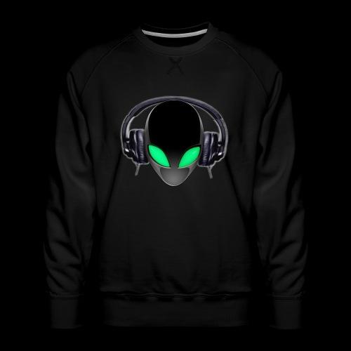 Alien Music Lover DJ (Simplified Fit All Design) - Men's Premium Sweatshirt