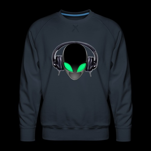 Alien Music Lover DJ (Simplified Fit All Design) - Men's Premium Sweatshirt