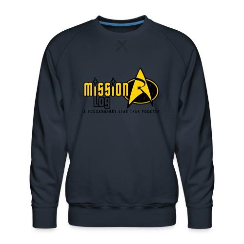 Logo Wide 2 Color Black Text - Men's Premium Sweatshirt