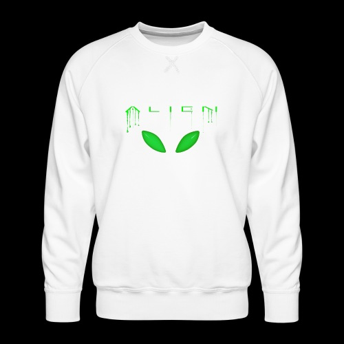 Alien Dribble with ET eyes - Green - Men's Premium Sweatshirt