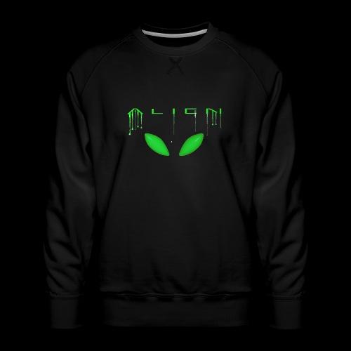 Alien Dribble with ET eyes - Green - Men's Premium Sweatshirt