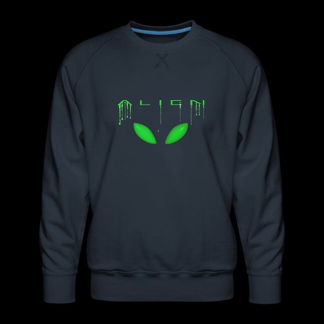 Alien Dribble with ET eyes - Green