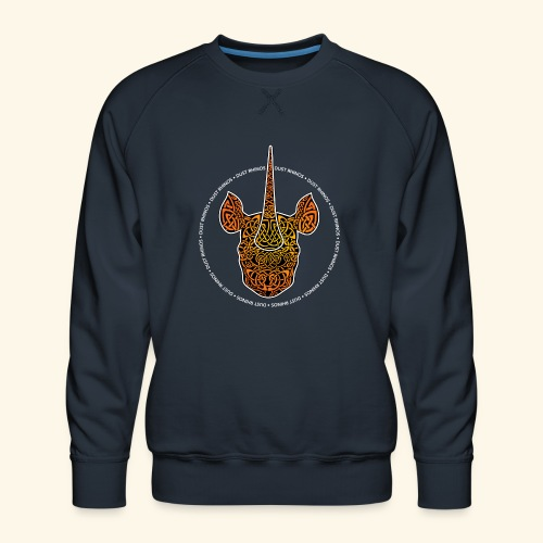 Dust Rhinos Orange Knotwork - Men's Premium Sweatshirt