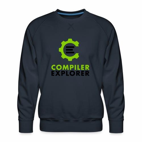 Logo and text - Men's Premium Sweatshirt