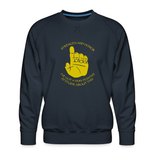 Positive Attitude - Men's Premium Sweatshirt