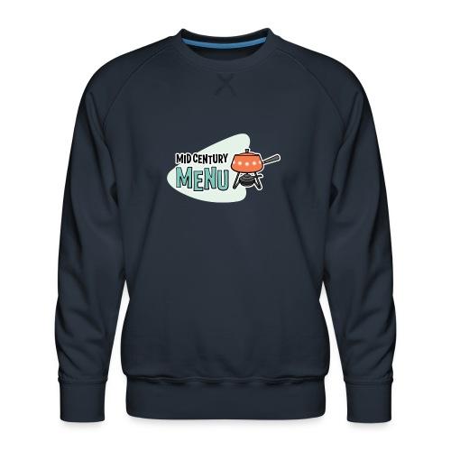 Double-Sided Mid-Century Menu Fondue Pot Logo - Men's Premium Sweatshirt