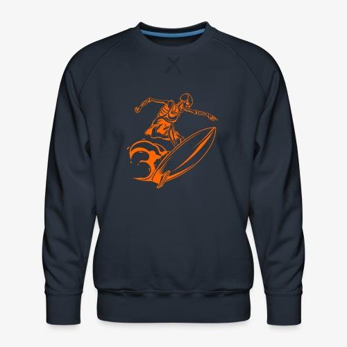 Surfing Skeleton 3a - Men's Premium Sweatshirt