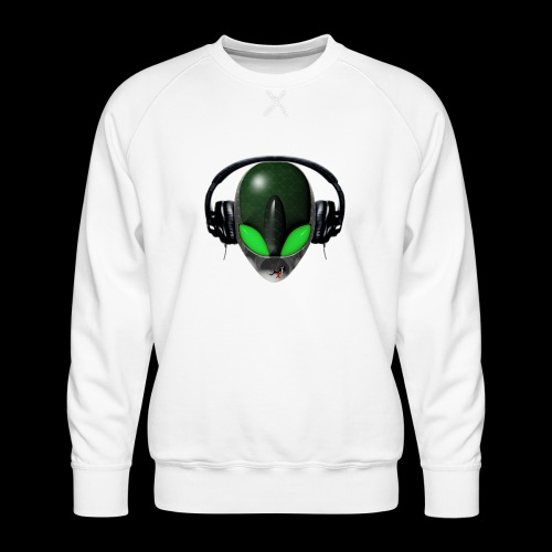 Reptoid Green Alien Face DJ Music Lover - Friendly - Men's Premium Sweatshirt