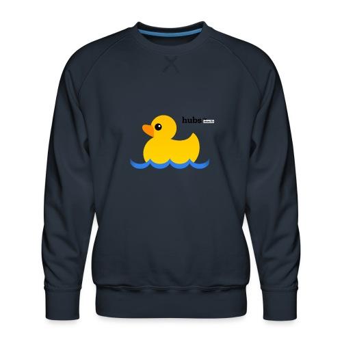 Hubs Duck - Wordmark and Water - Men's Premium Sweatshirt