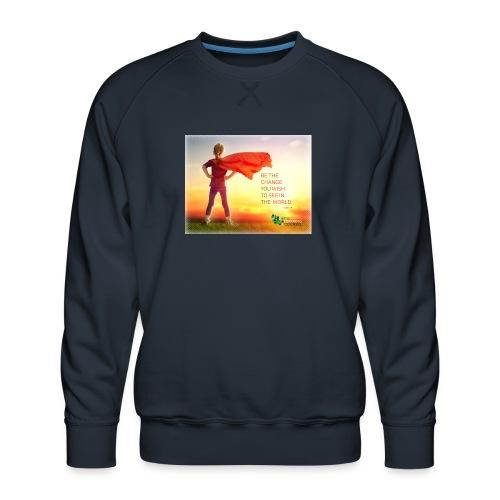 Education Superhero - Men's Premium Sweatshirt