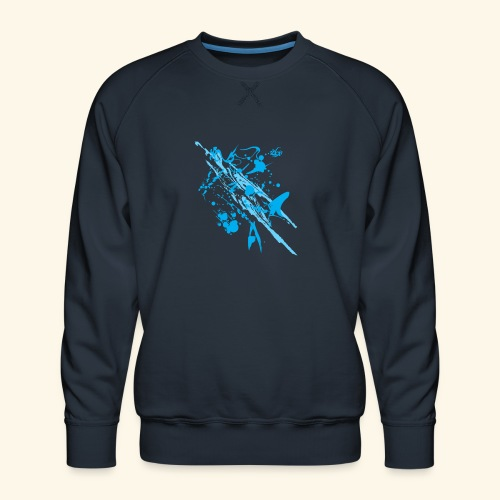 Blue Splash - Men's Premium Sweatshirt