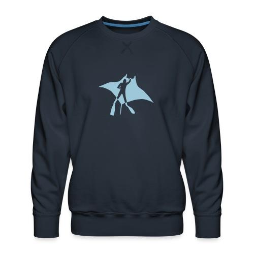 manta ray sting scuba diving diver dive fish ocean - Men's Premium Sweatshirt