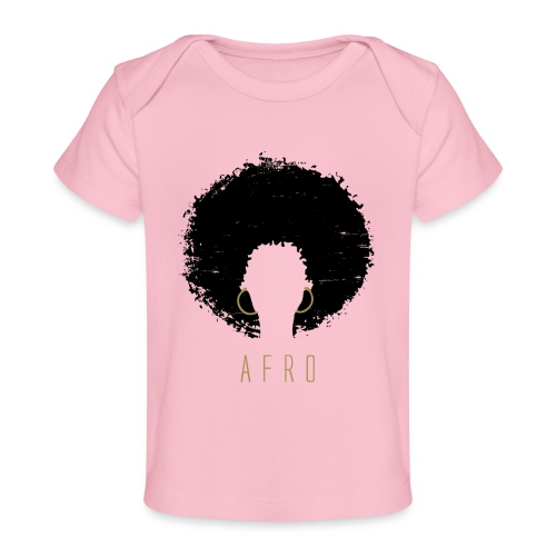 Black Afro American Latina Natural Hair - Baby Organic T-Shirt