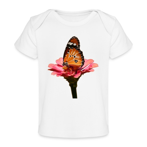 Monarch Butterfly on Flower - Baby Organic T-Shirt