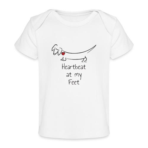 Heartbeat at my Feet - Baby Organic T-Shirt