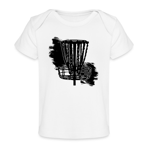Disc Golf Basket Paint Black Print - Baby Organic T-Shirt