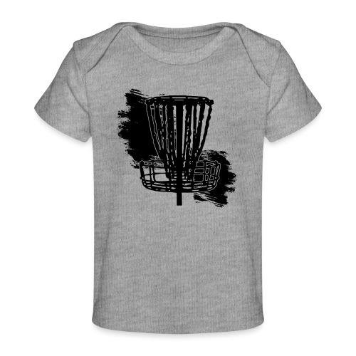 Disc Golf Basket Paint Black Print - Baby Organic T-Shirt