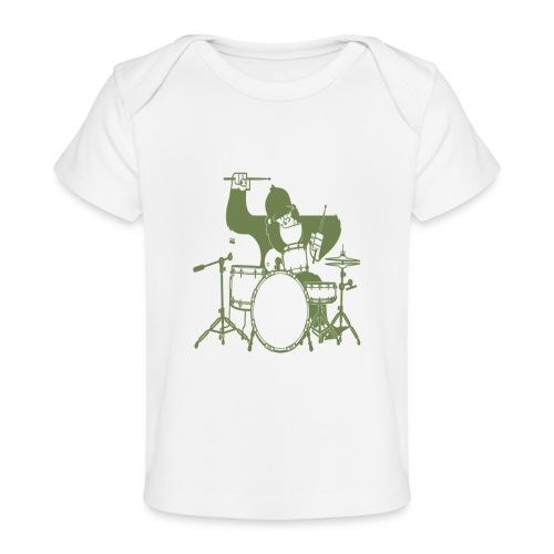 GORILLA PLAYING ON DRUMS - Baby Organic T-Shirt