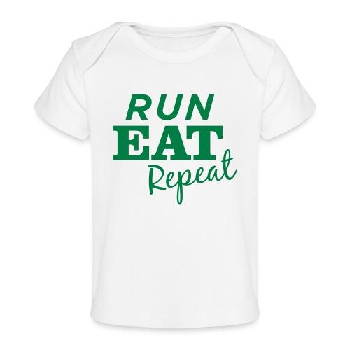 Run Eat Repeat buttons medium - Baby Organic T-Shirt