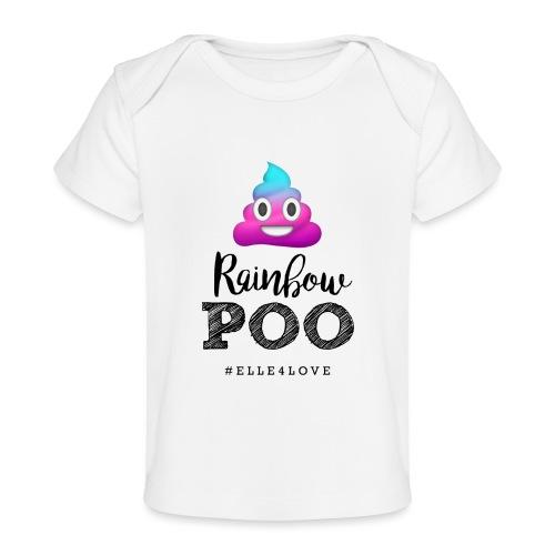 Rainbow Poo - Baby Organic T-Shirt