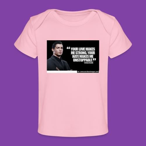 255777-Cristiano-ronaldo------quote-w - Baby Organic T-Shirt