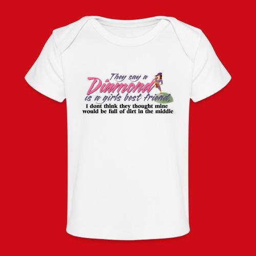 Softball Diamond is a girls Best Friend - Baby Organic T-Shirt