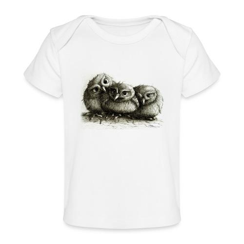 Three Cute Owls - Baby Organic T-Shirt