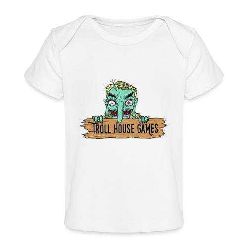 Troll House Games Cartoon Logo - Baby Organic T-Shirt