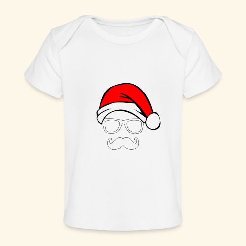 Santa with Geek and Mustache - Baby Organic T-Shirt