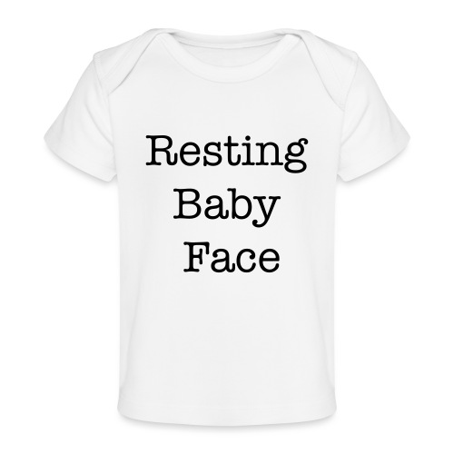 Resting Baby Face Baby Shower - Baby Organic T-Shirt