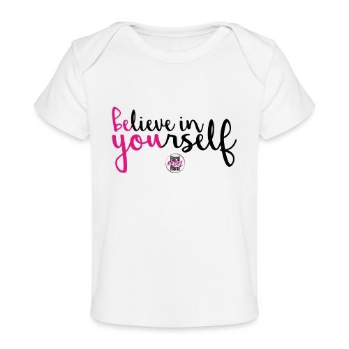 BE YOU shirt design w logo - Baby Organic T-Shirt