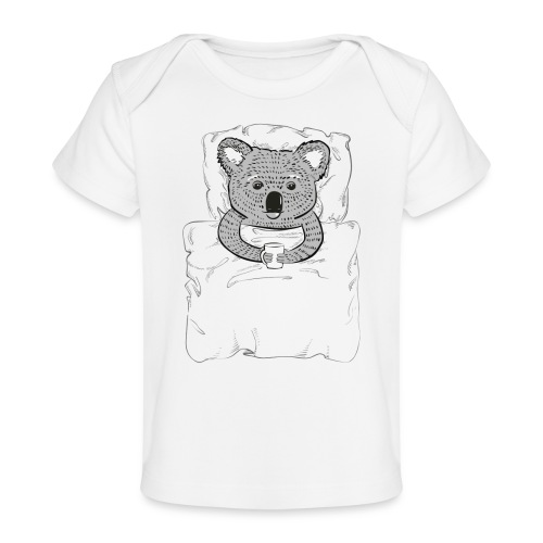 Print With Koala Lying In A Bed - Baby Organic T-Shirt