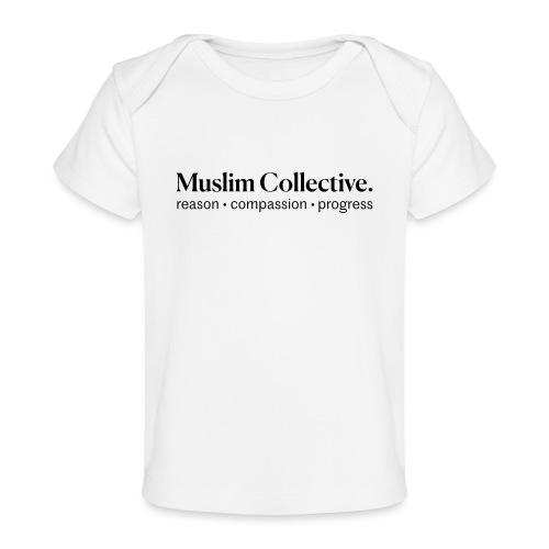 Muslim Collective Logo + tagline - Baby Organic T-Shirt
