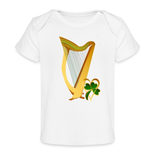 Celtic Irish gold Harp - Baby Organic T-Shirt