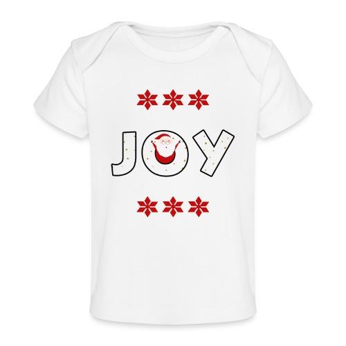 Christmas JOY Santa Clause Ugly Style - Baby Organic T-Shirt