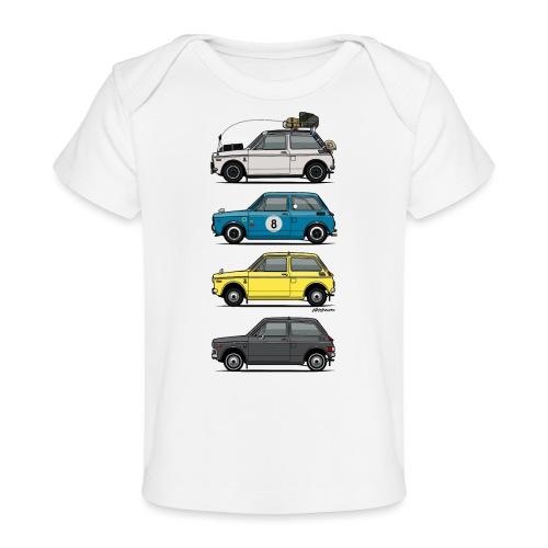 Stack of Vintage Honda N360 N600 Kei Cars - Baby Organic T-Shirt