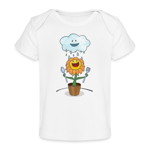 Cloud & Flower - Best friends forever - Baby Organic T-Shirt