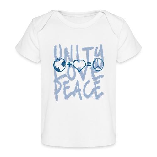 Unity Love Peace - Baby Organic T-Shirt