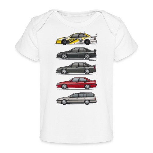 Stack of Opel Omegas / Vauxhall Carlton A - Baby Organic T-Shirt