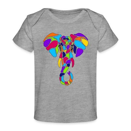 Art Deco elephant - Baby Organic T-Shirt