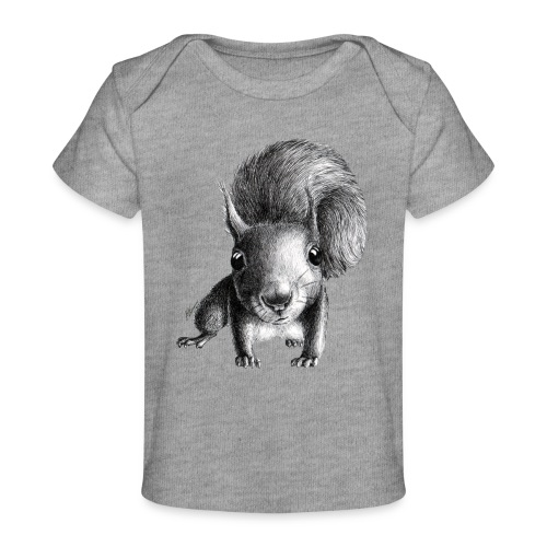 Cute Curious Squirrel - Baby Organic T-Shirt