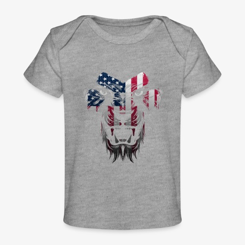 American Flag Lion Shirt - Baby Organic T-Shirt