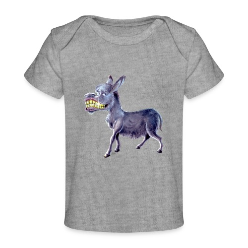 Funny Keep Smiling Donkey - Baby Organic T-Shirt