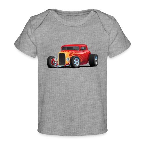 Classic Bold Red Custom Street Rod - Baby Organic T-Shirt