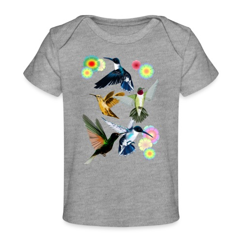 For The Love Of Hummingbirds - Baby Organic T-Shirt