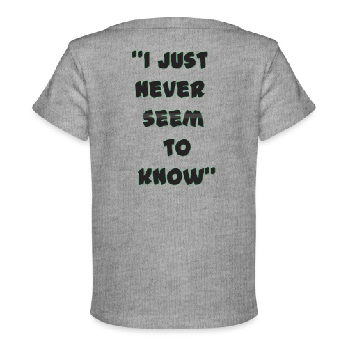 know png - Baby Organic T-Shirt