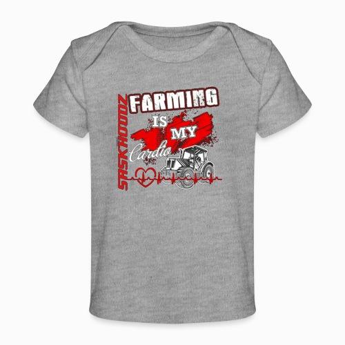 saskhoodz farming - Baby Organic T-Shirt