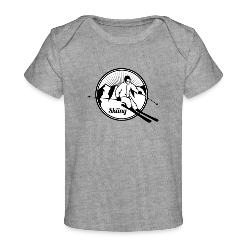 Extreme Winter Sports on Snow - Baby Organic T-Shirt