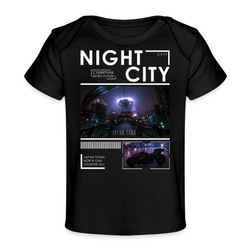 Night City Japan Town - Baby Organic T-Shirt