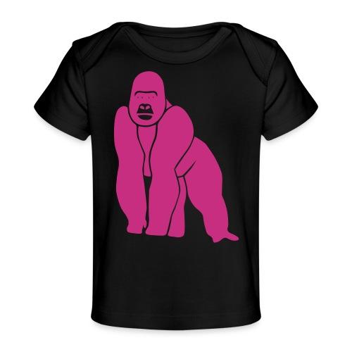 gorilla ape monkey king kong godzilla silver back - Baby Organic T-Shirt